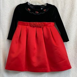 Rare Editions Holiday Dress Girls 18 Months